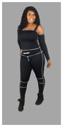 Sporty & Casual Long Sleeve Two Piece Set - Sexy~N~Snappy