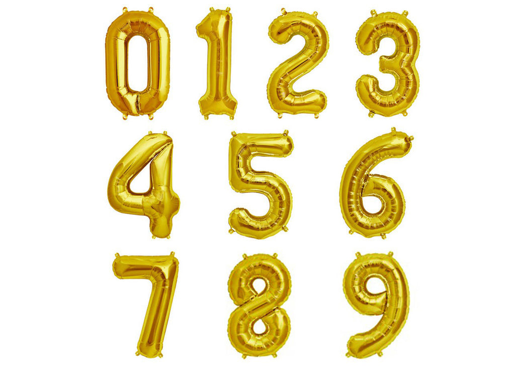 Gold Numeric Balloons_ Presentail Gifts