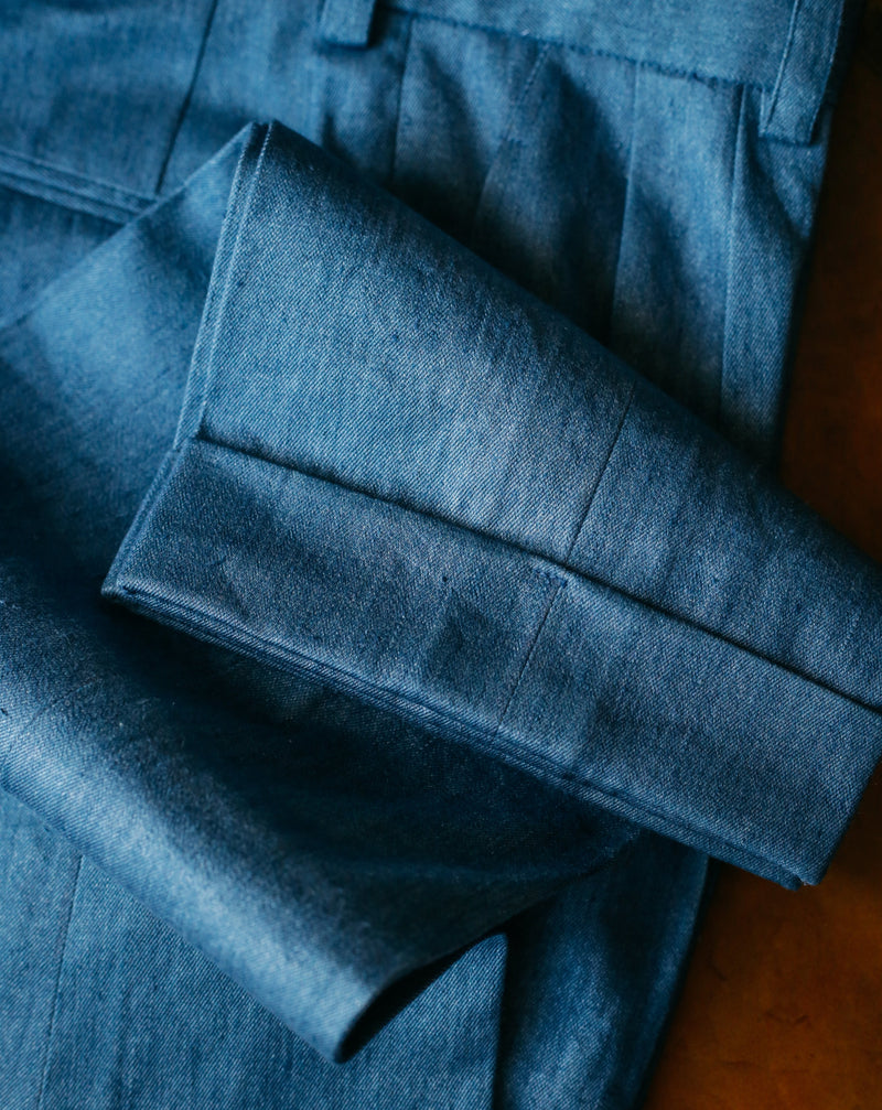 Loro Piana - Cotton/Linen Denim Trousers