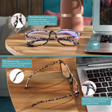 SIPU 4 Pack Blue Light Blocking Glasses Fashion Square Nerd Eyeglasses for Women