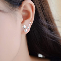 925 Sterling Silver Stud Earrings Set for Women Girls, 5 Pack Different Sizes Tiny Sterling Silver Earrings Stud Balls