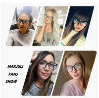 Maxjuli Blue Light Blocking Glasses, Computer Reading/Gaming/TV/Phones Glasses for Women Men(Transparent)