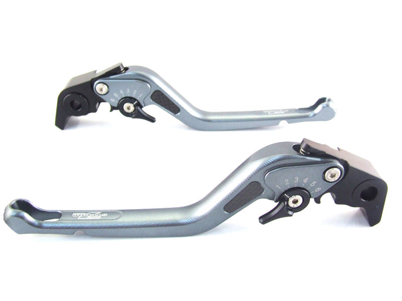 Triumph TIGER 1050 Sport 2007-2016 Strada 7 Long Carbon Fiber Inlay Levers Black