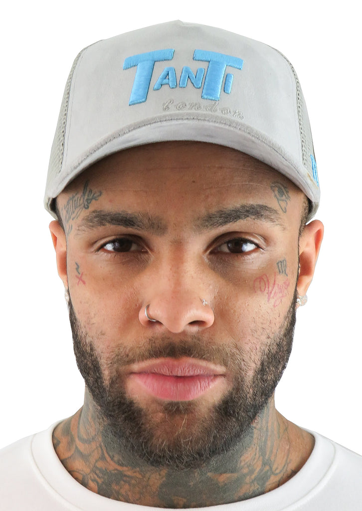 TANTI LONDON SIGNATURE TRUCKER CAP IN GREY