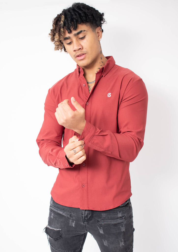 Carlson Maroon Shirt - Street Secret