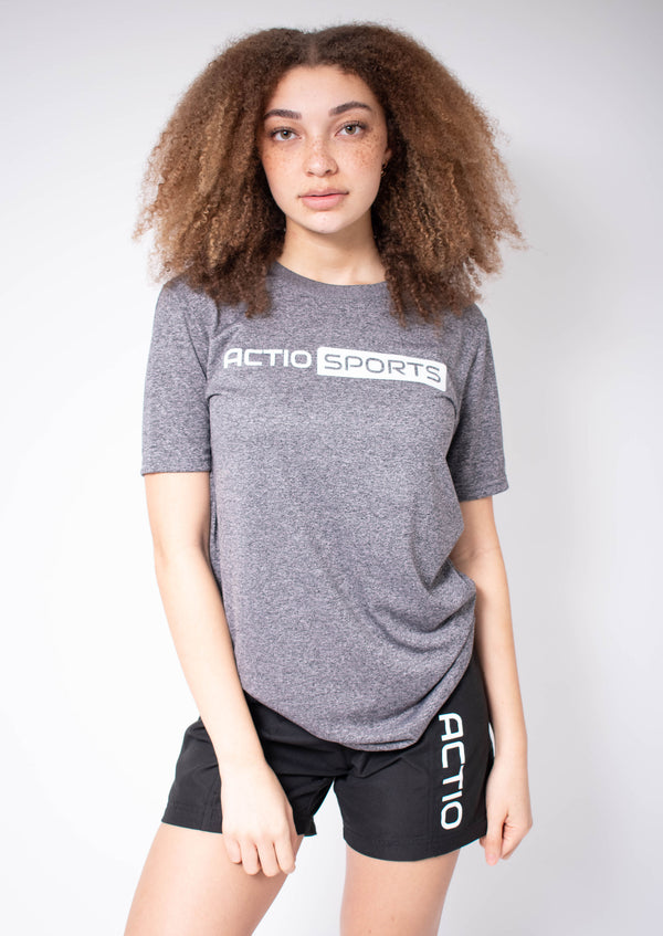 Heather Tee- Grey