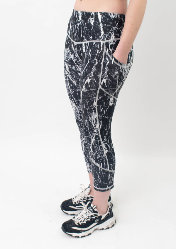 Future Apparel - Grey Marble Gym Leggings
