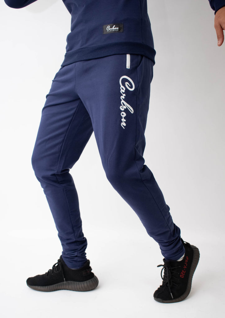 Carlson Navy Tracksuit Bottoms - Street Secret