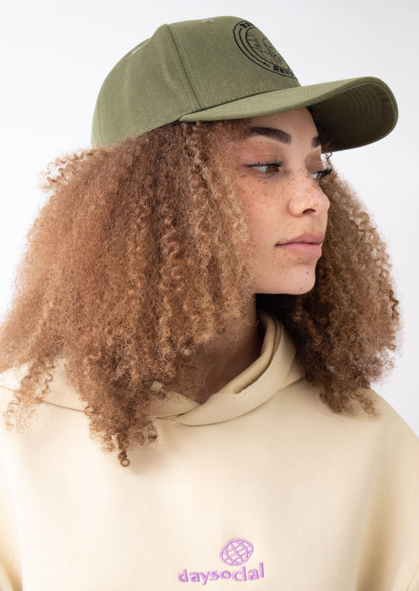 Khaki Green Tucker Cap