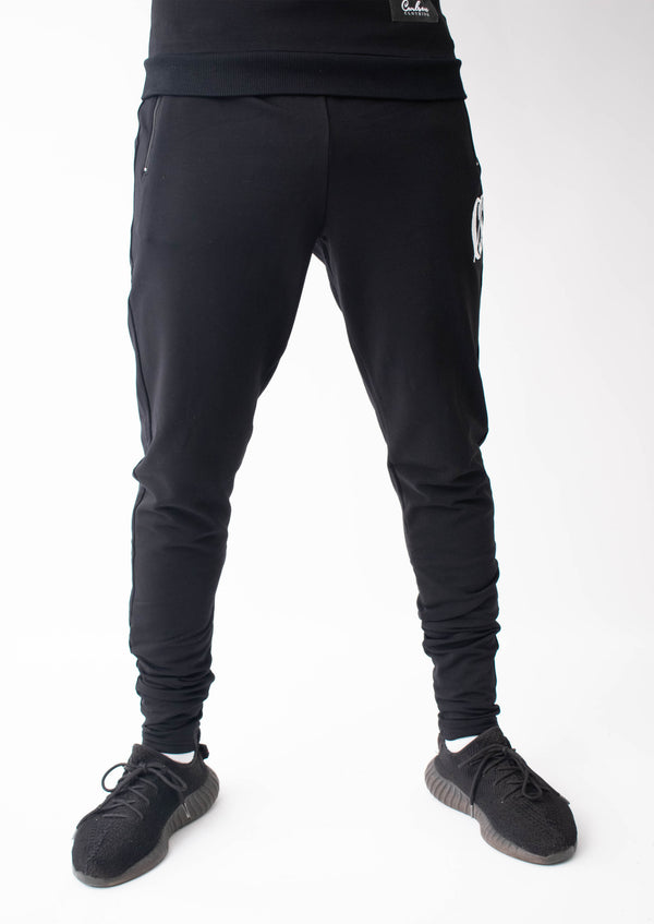 Carlson Black Tracksuit Bottoms - Street Secret
