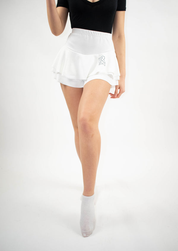 White Short & Skirt R logo - Street Secret