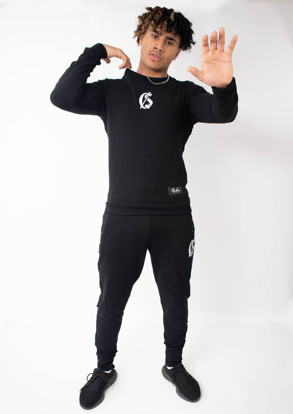 Carlson Black Tracksuit - Street Secret