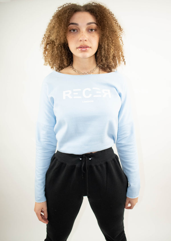 Crop Top Jumper- Sky Blue - Street Secret