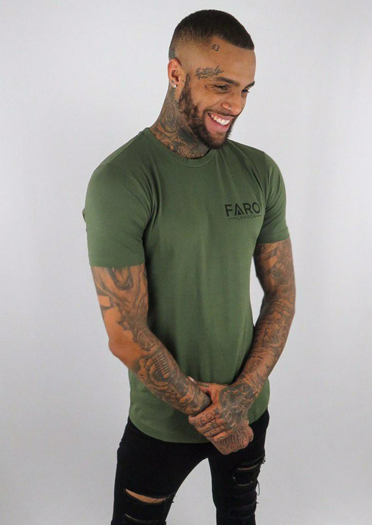 Faro Small Logo T-Shirt - Khaki - STREET SECRET