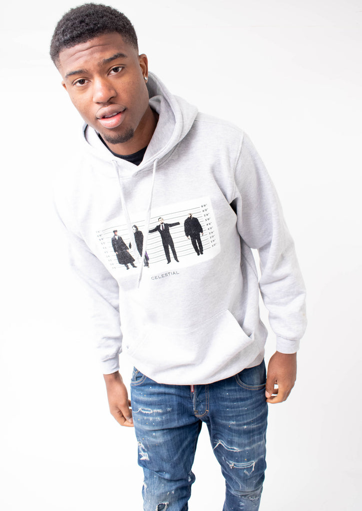 Crime design Hoodie - Light Grey