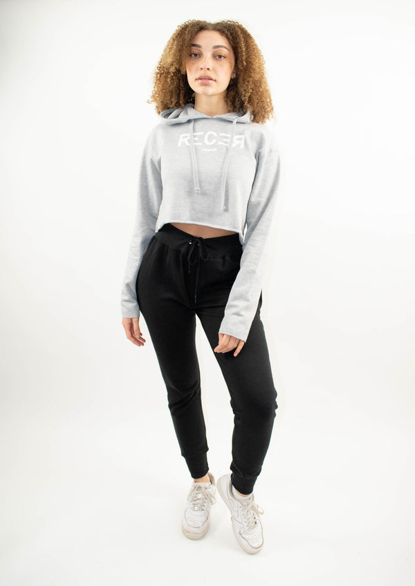 Grey Cropped Hoodie - Street Secret