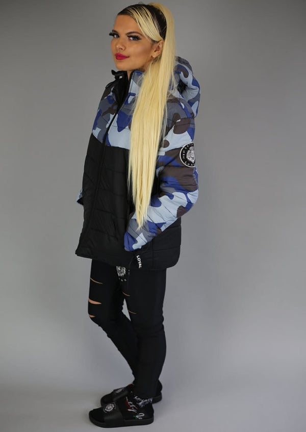 Mk1 Camo Puffer - Navy/Brown/Sky Blue/Grey