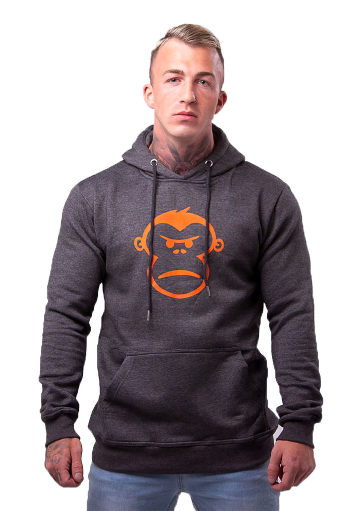 Orange Monkey Charcoal Grey Pull-Over Hoodie - STREET SECRET