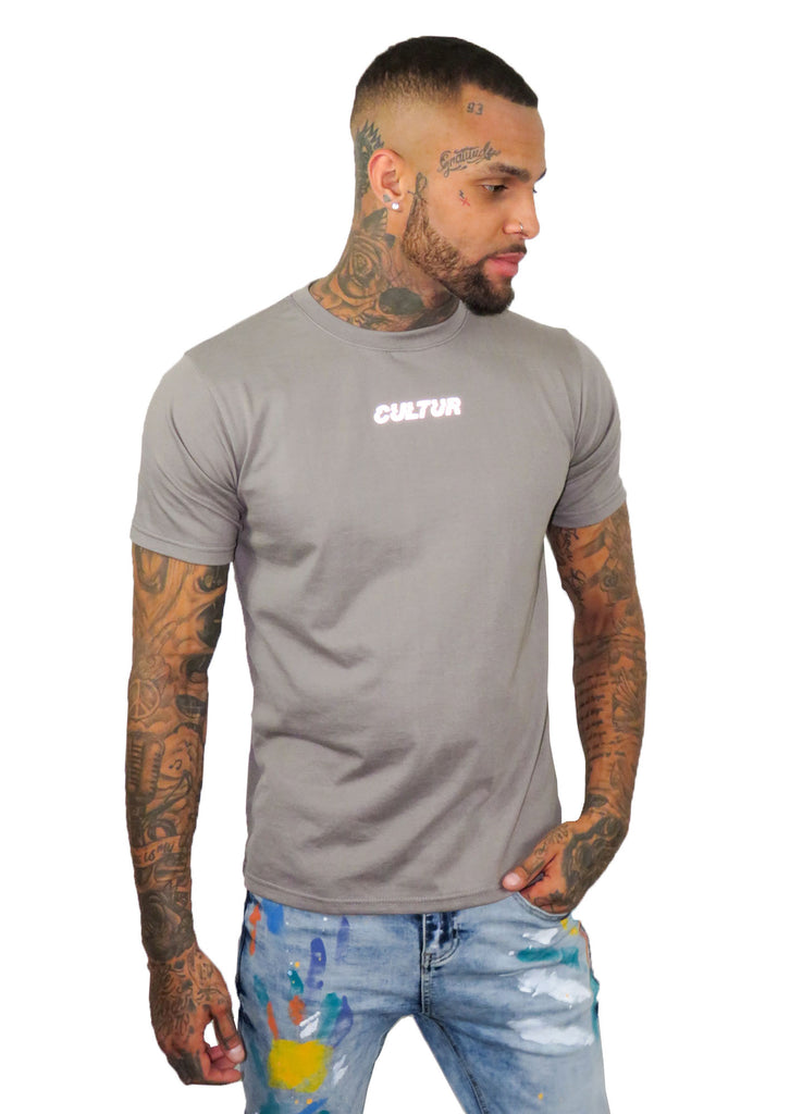 Cultur Grey Oversized T-Shirt - STREET SECRET