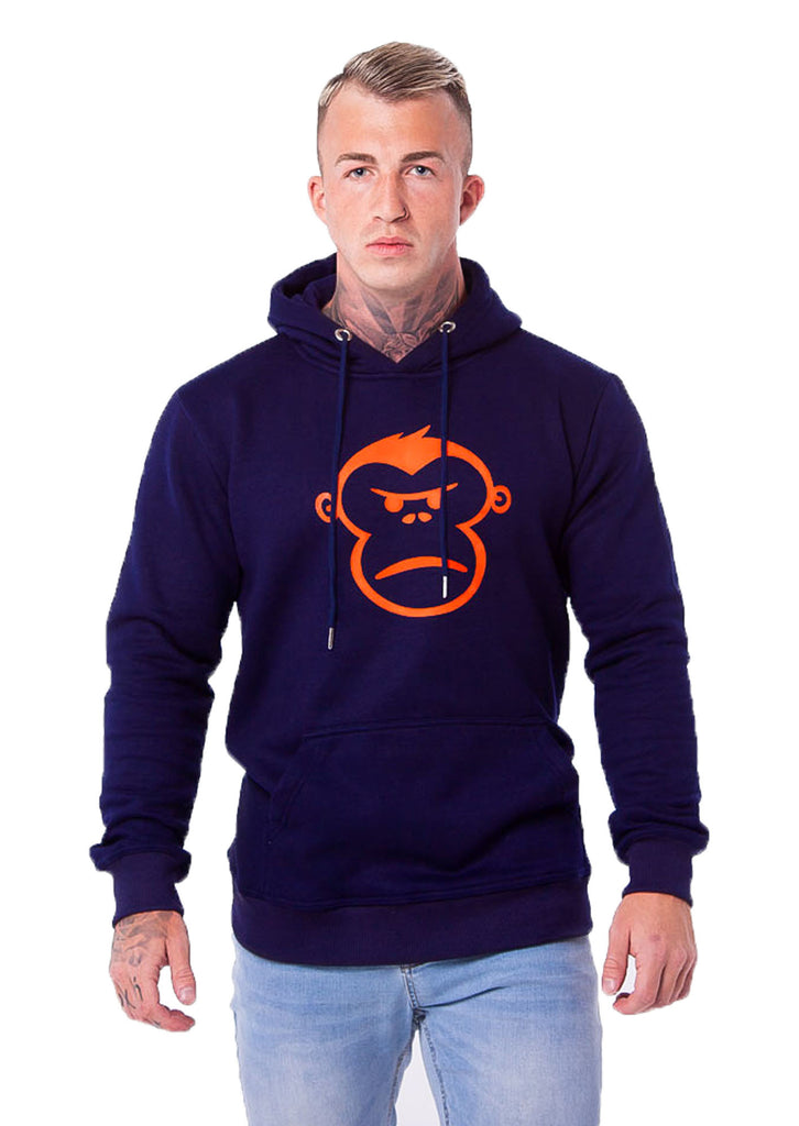 Orange Monkey Navy Pull-Over Hoodie - STREET SECRET