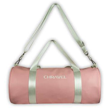 Chravel Collection Duffle Bag - Pink/White - STREET SECRET