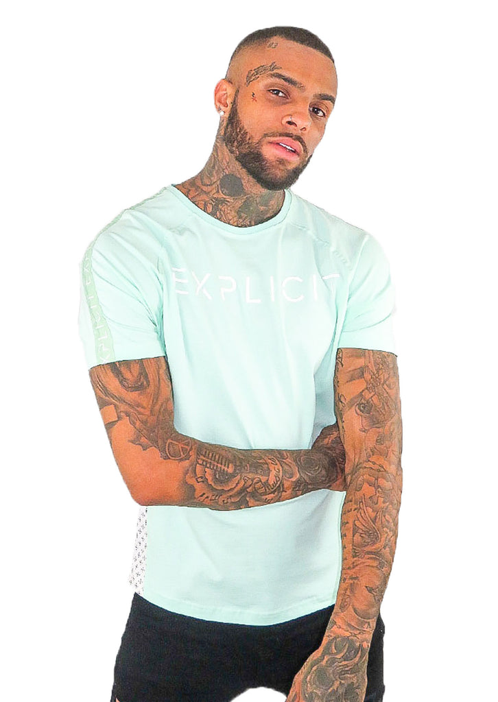 Explicit Polder T Shirt - Teal - STREET SECRET
