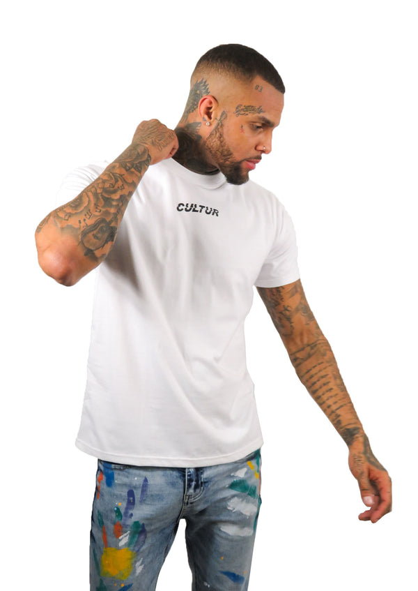 Cultur White Oversized T-Shirt - STREET SECRET