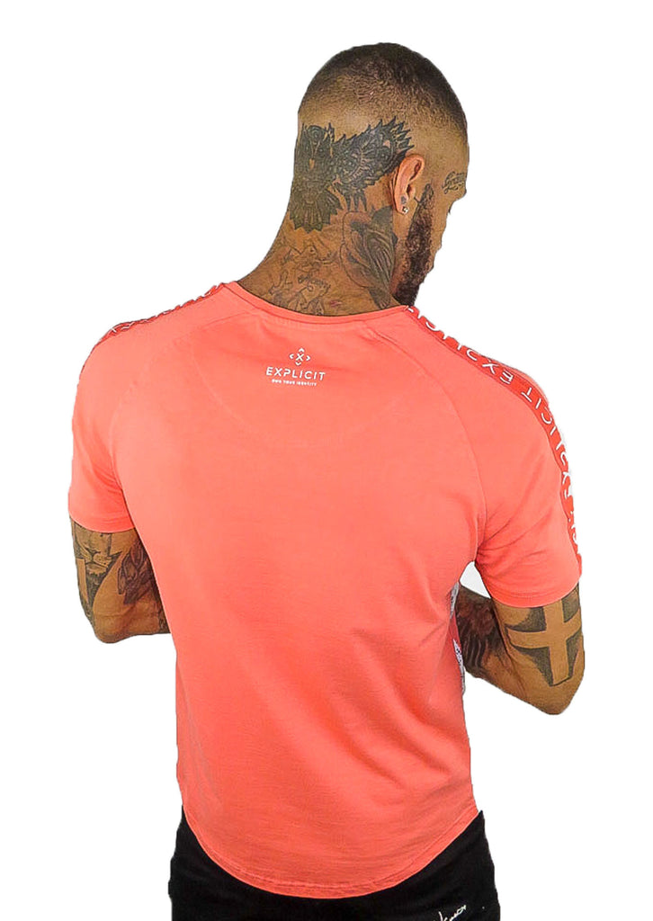 Explicit  Polder T Shirt - Coral Orange - STREET SECRET