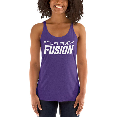 Women's Fueled By Fusion Racerback Tank - Black or Purple