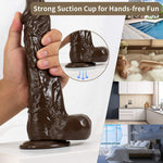 10.2 Inch Realistic Huge Dong Silicone Dildo with Strong Suction Cup