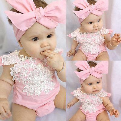 Flower Lace Pink Romper - tinyjumps