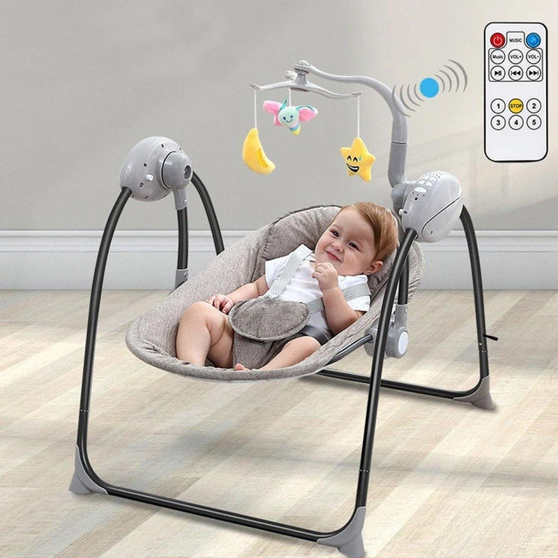 MomAtEase Electric Baby Cradle - tinyjumps