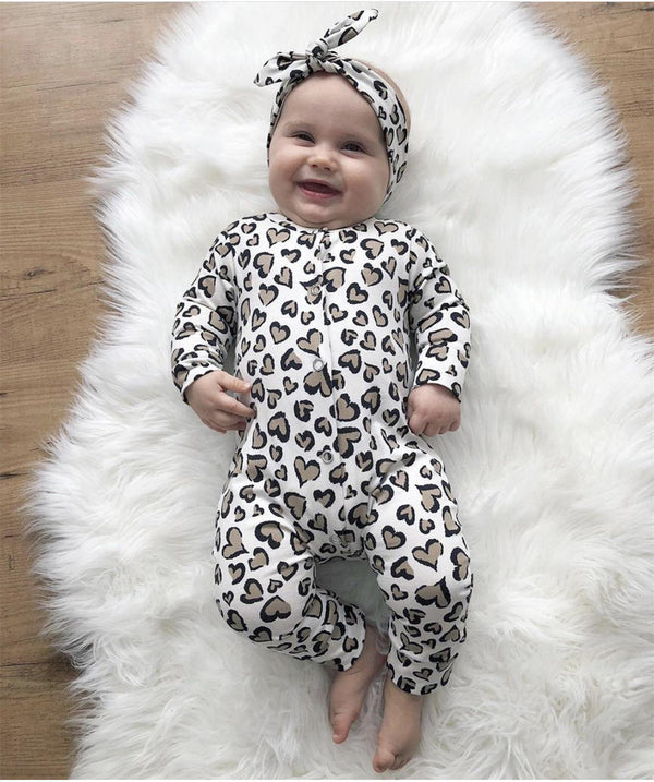 Cutesy Heart Print Jumpsuit - tinyjumps