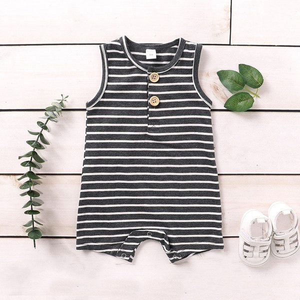 Sleeveless Striped Romper - tinyjumps