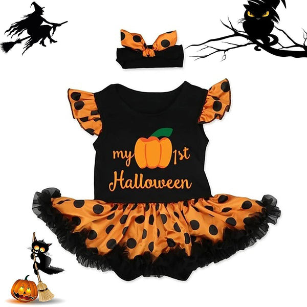 Baby Ruffled Halloween Costumes - tinyjumps