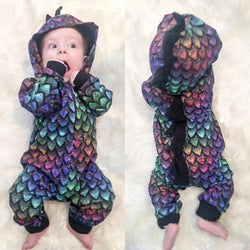 Baby Dino Hooded Jumpsuit - tinyjumps
