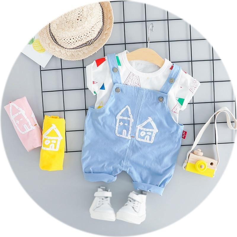 Cute House Jumpsuit Outfit - tinyjumps