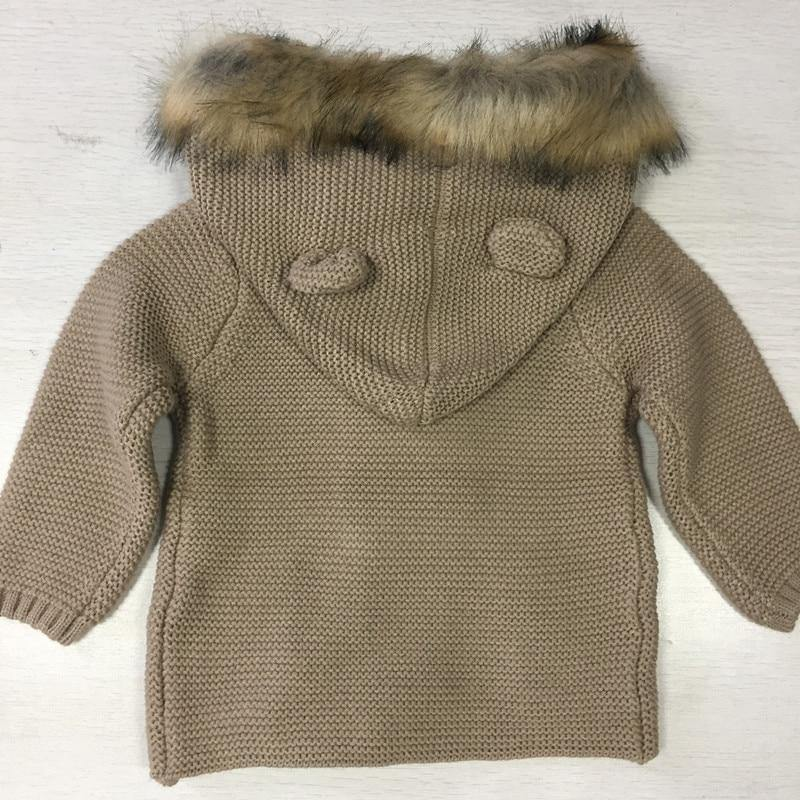 Furry Hooded Knitted Sweater - tinyjumps
