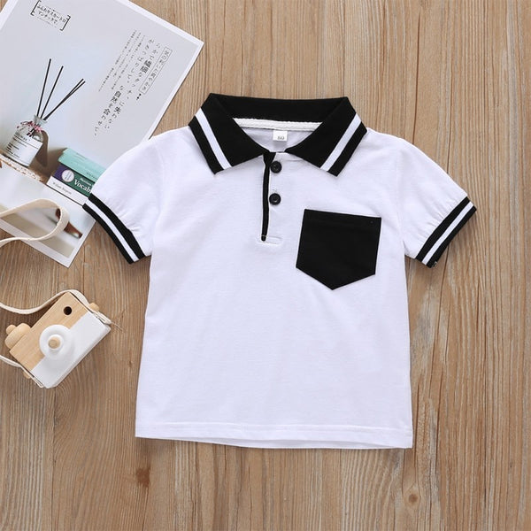 Monochrome Polo T-shirt - tinyjumps