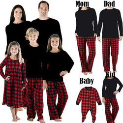 Matching Check Plaid Print Family Outfit - tinyjumps