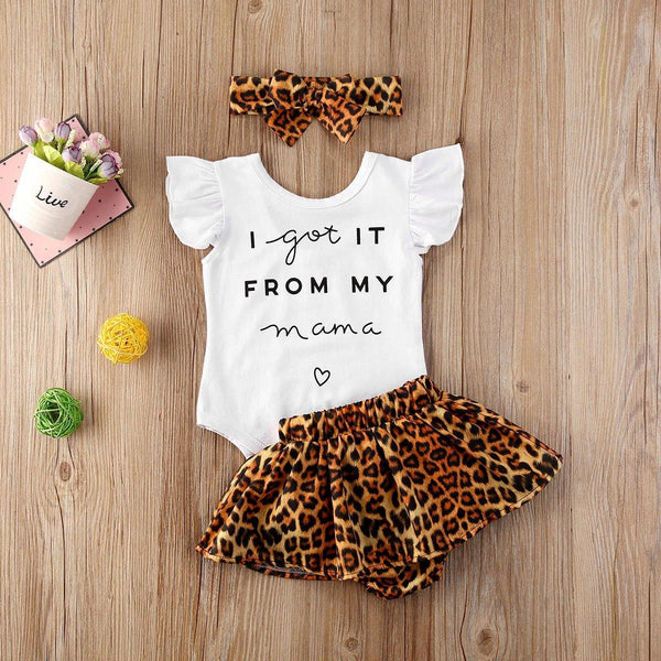 """I Got It From My Mama"" Romper Outfit - tinyjumps"