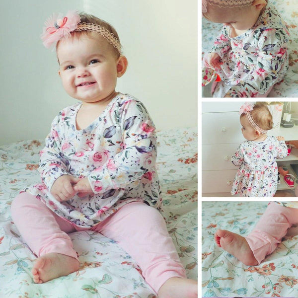 Baby Girl Flower Clothes - tinyjumps
