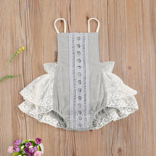 Baby Girl Lace Romper - tinyjumps