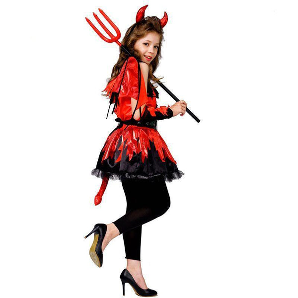 Fiery Devil Halloween Costume - tinyjumps