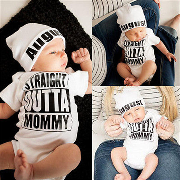 Straight Outta Mommy Romper - tinyjumps