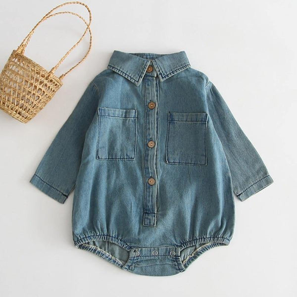 Baby Denim Romper - tinyjumps