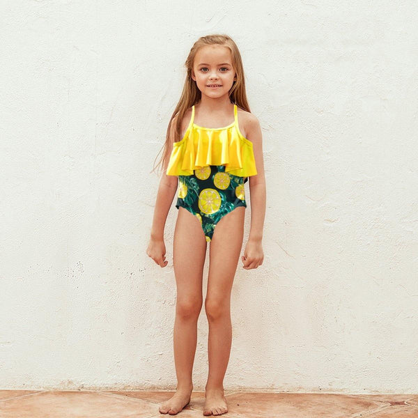Lemon Printed Family Swimsuits - tinyjumps