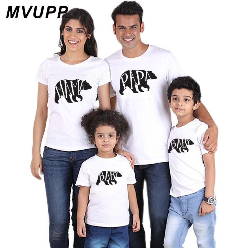 Matching Bear Family White T-shirts - tinyjumps