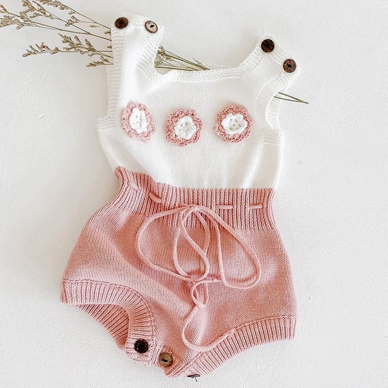 Baby Girl Knitted Romper - tinyjumps