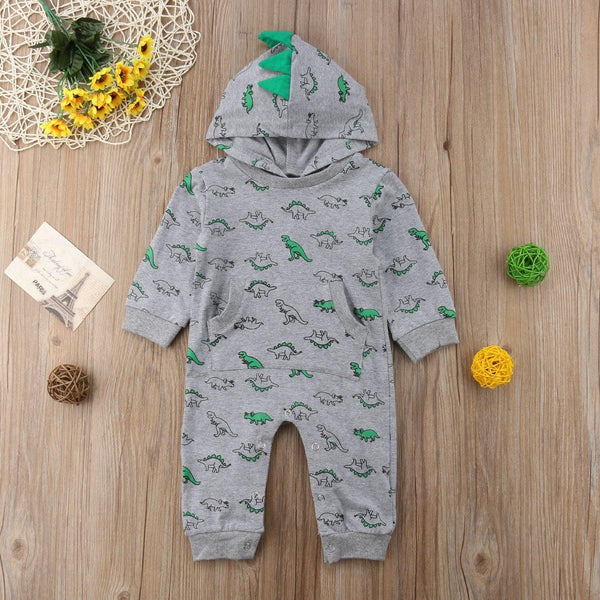 Hooded Dino Jumpsuit - tinyjumps